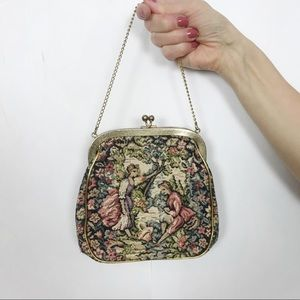 VINTAGE Clutch | Embroidered Mini bag | Gold Clasp